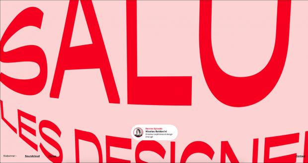 Interface conçue par Jessy pour le site Salut les designers - Agence LunaWeb