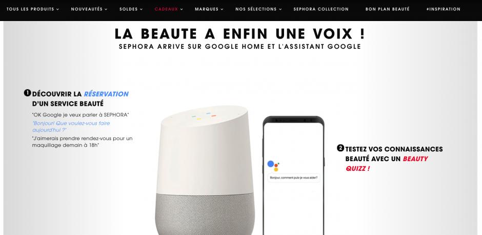Sephora-et-son-google-home