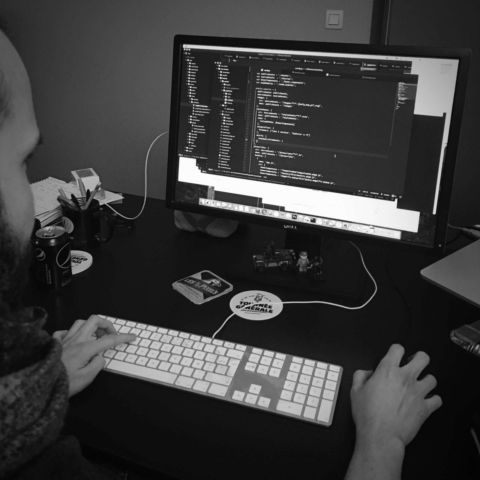 Développement front-end LunaWeb