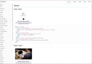 LunaWeb style guide : composant