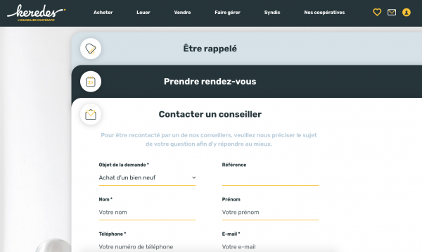 Qualification des contacts grace aux formulaires de contact