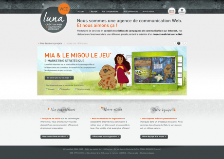 LunaWeb - Site internet version 4
