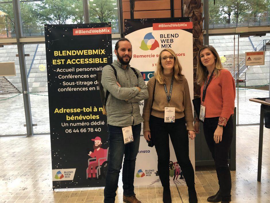 Damien, Luisa et Amélie se sont rendus à Blend 2019