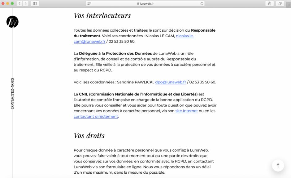 Information de vos utilisateurs - collecte de données - RGPD