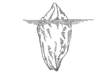 la collecte de données, partie visible de l'iceberg_