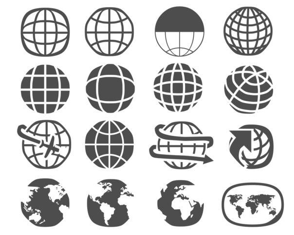 Différents dessins représentant la planète Terre.