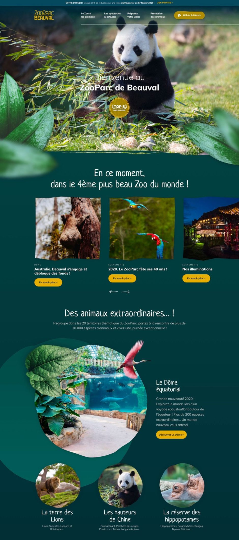 page d'accueil zoobeauval