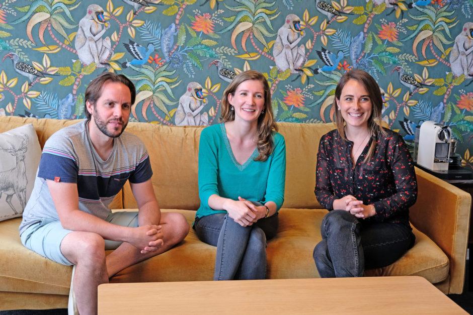 Damien, Amélie et Alizée, trois des quatres designers de l'agence