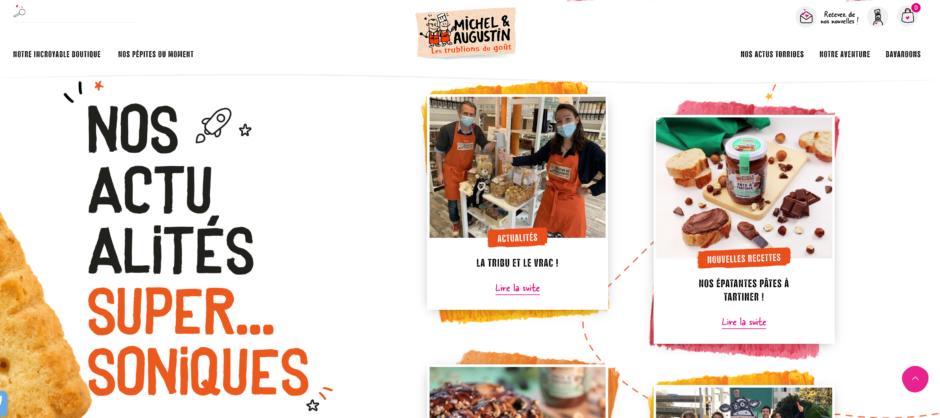 Le site Michel et Augustin, un exemple d'UX writing drôle et abouti